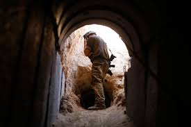 IDF Soldier looks into Hamas Tunnel - Time Inc